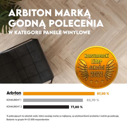 Marka Arbiton została uznana za Konsumenckiego Lidera Jakości